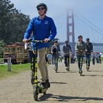 Ptivate Electric Scooter tours to the Golden Gate Bridge