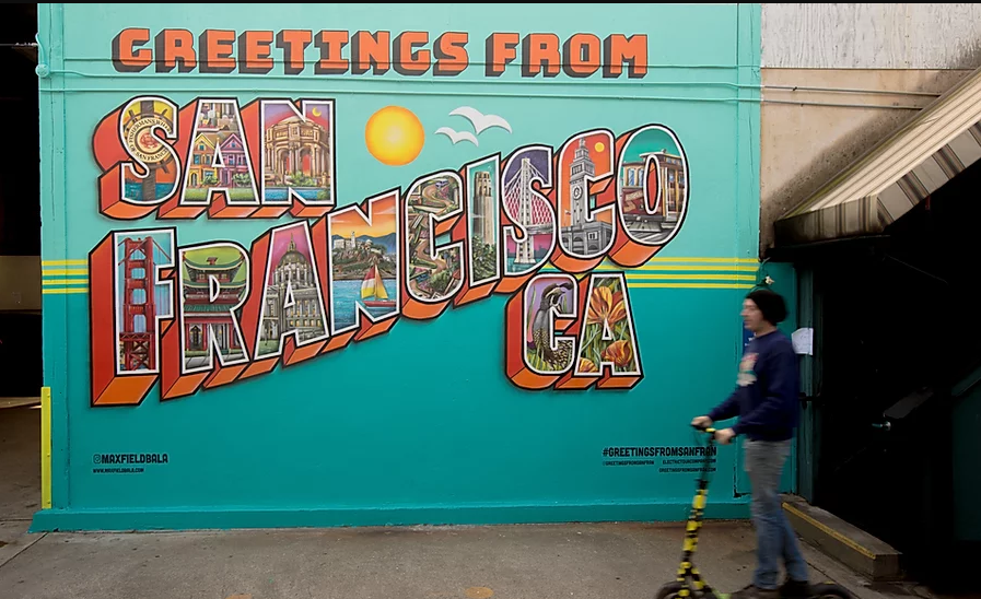 greetings from san francisco mural