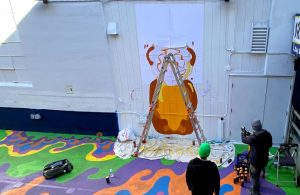 Painting day Fnnch Fisherman's Wharf Honey Bear Mural