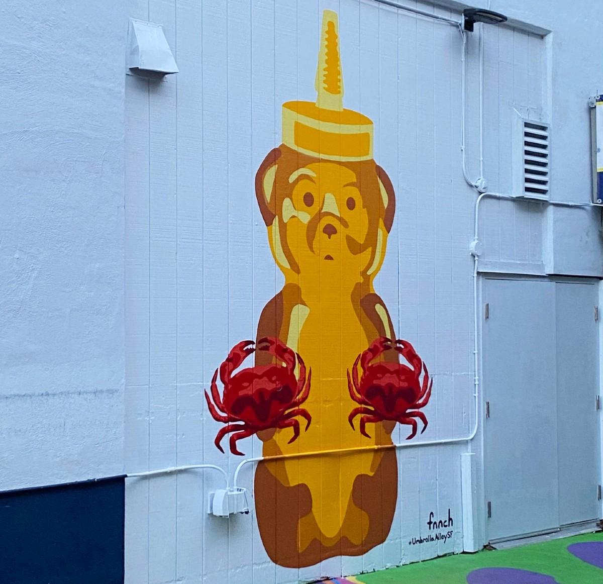 Fnnch Fisherman's Wharf Honey Bear Mural