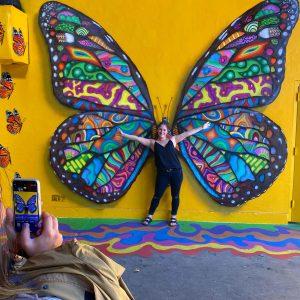 summer of love monarch butterfly mural