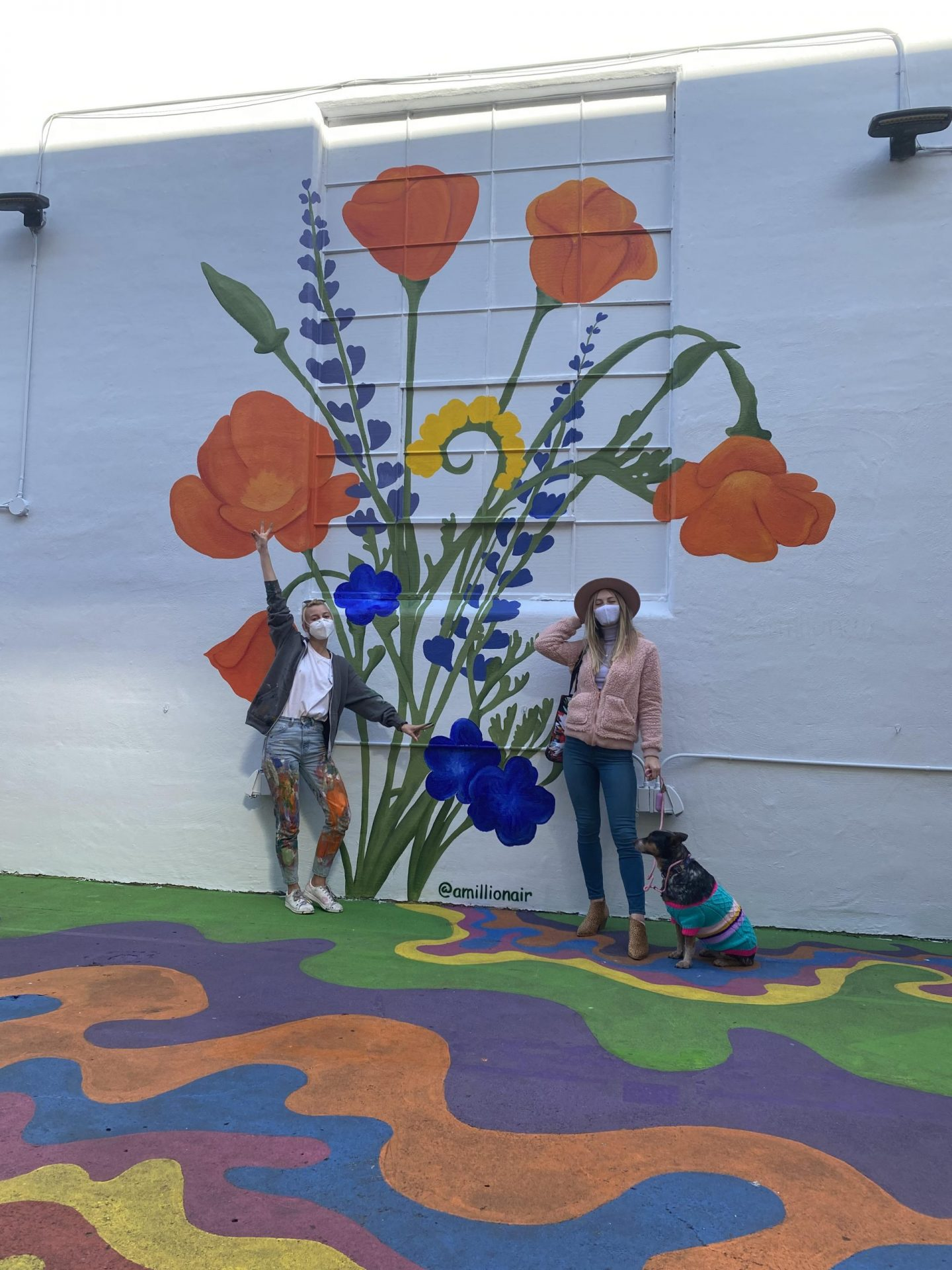 amillionair-kate-tova-california-wildflower-mural-umberella-alley